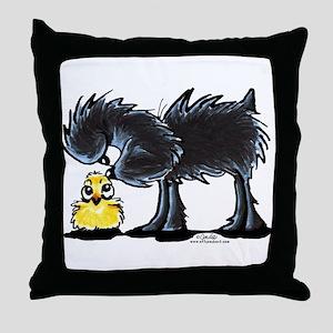 Affen n' Chick Throw Pillow