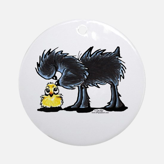 Affen n' Chick Ornament (Round)