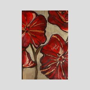 Red Poppy Art Rectangle Magnet