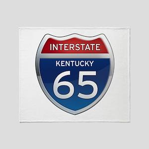 Interstate 65 - Kentucky Throw Blanket