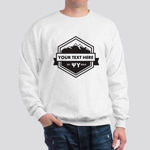 Psi Upsilon Mountains Ribbon Personaliz Sweatshirt