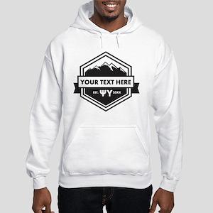 Psi Upsilon Mountains Ribbon Per Hooded Sweatshirt