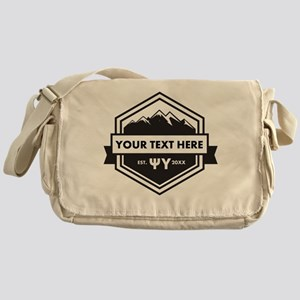 Psi Upsilon Mountains Ribbon Persona Messenger Bag
