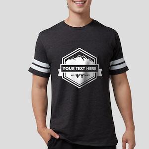 Psi Upsilon Mountains Ribbo Mens Football T-Shirts