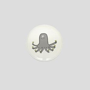 Octopus Handbells Mini Button