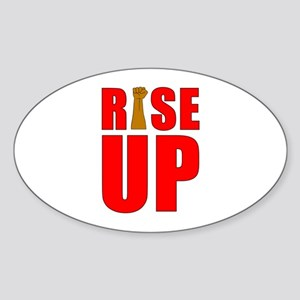 RiSE UP Oval Sticker