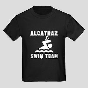 Alcatraz Swim Team Kids Dark T-Shirt