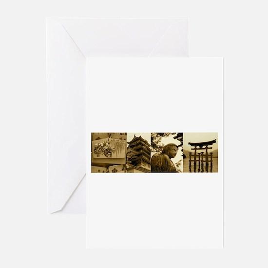 japancollage Greeting Cards