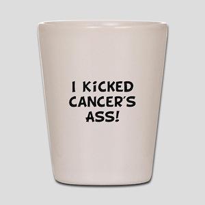 Kicked Cancer Shot Glass