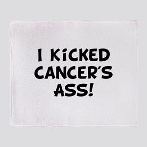 Kicked Cancer Throw Blanket