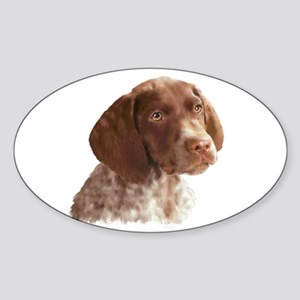 German Shorthair Puppy Sticker (Oval)