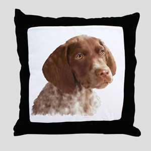 German Shorthair Puppy Throw Pillow