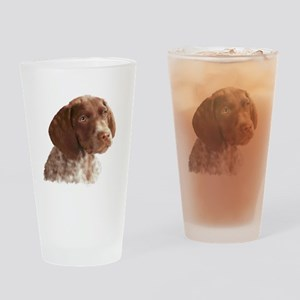 German Shorthair Puppy Drinking Glass