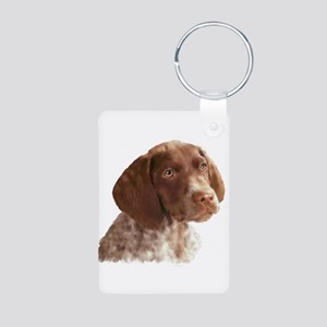 German Shorthair Puppy Aluminum Photo Keychain