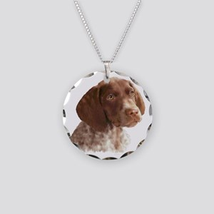 German Shorthair Puppy Necklace Circle Charm