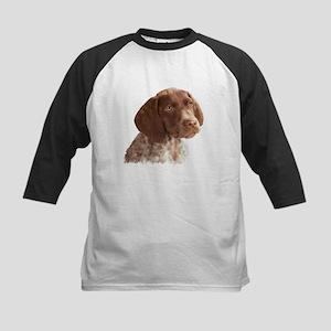 German Shorthair Puppy Kids Baseball Jersey