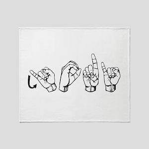 Jodi-ASL Throw Blanket