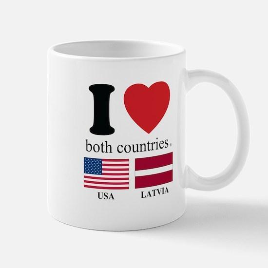 USA-LATVIA Mug