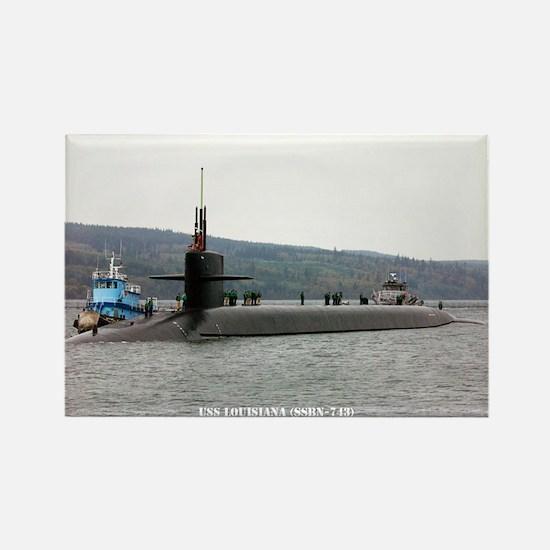 USS LOUISIANA Rectangle Magnet