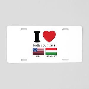 USA-HUNGARY Aluminum License Plate