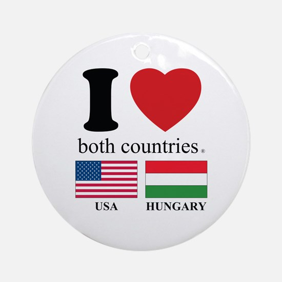 USA-HUNGARY Ornament (Round)