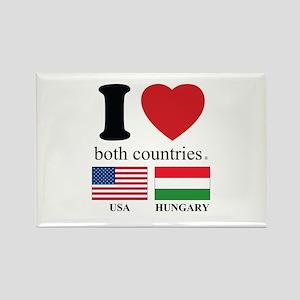 USA-HUNGARY Rectangle Magnet