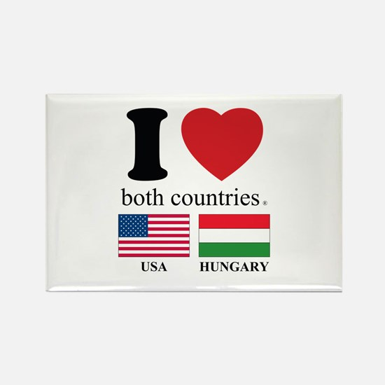 USA-HUNGARY Rectangle Magnet
