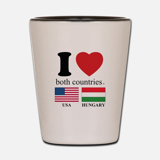 USA-HUNGARY Shot Glass