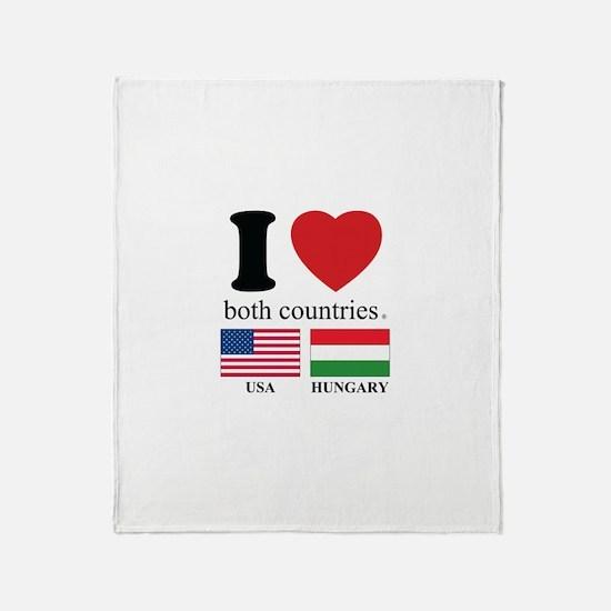 USA-HUNGARY Throw Blanket