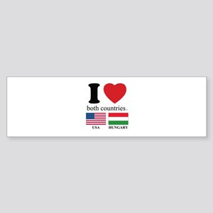 USA-HUNGARY Sticker (Bumper)