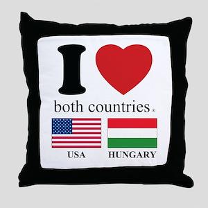 USA-HUNGARY Throw Pillow