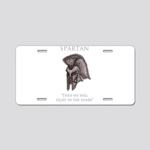 angry spartan Aluminum License Plate