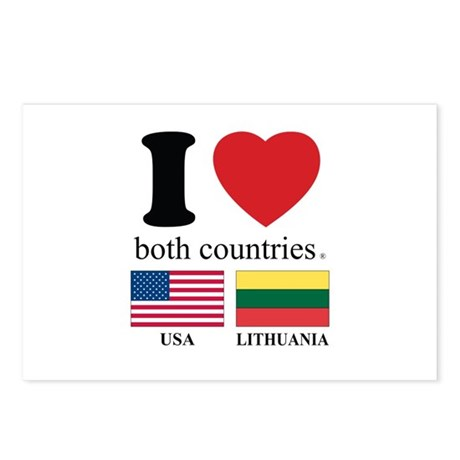 USA-LITHUANIA Postcards (Package of 8)