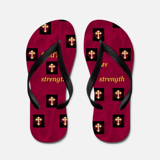 Flip Flops God's Strength Is My Strength