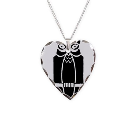 Owl Necklace Heart Charm