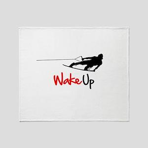 Wake Up Boarder Throw Blanket