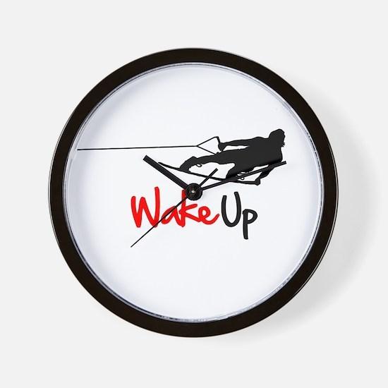 Wake Up Boarder Wall Clock