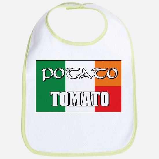 Potato Tomato Irish-Italian Bib