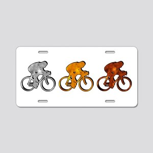 Cycling Aluminum License Plate