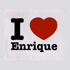 I love Enrique Throw Blanket