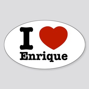 I love Enrique Sticker (Oval)