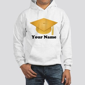 Personalized Gold Graduation Cap Hooded Sweatshirt