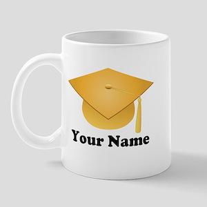Personalized Gold Graduation Cap Mug