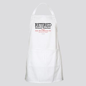 Retired Teacher BBQ Apron