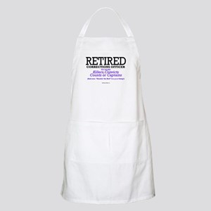 Retired Corrections BBQ Apron
