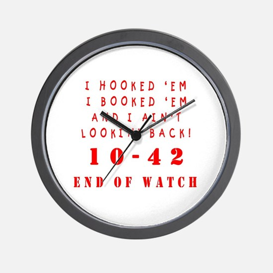 Funny Law enforcement retirement Wall Clock