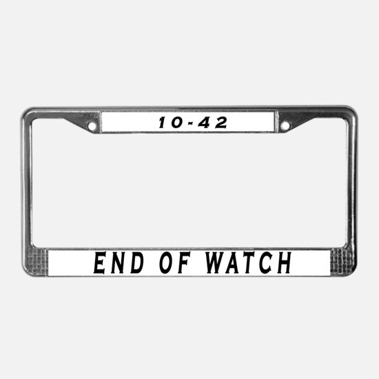 Cute Off duty License Plate Frame
