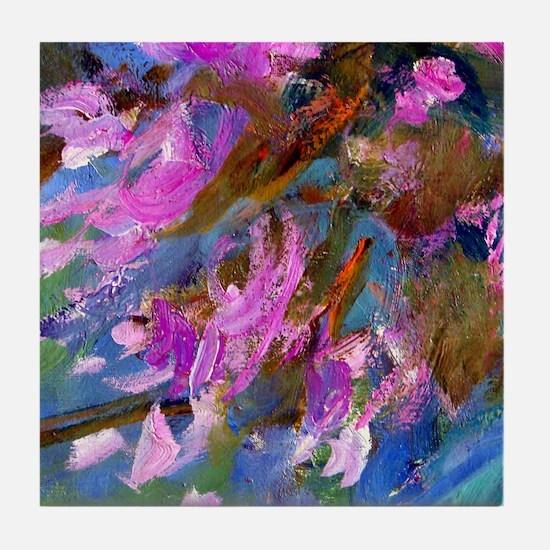 Monet - Agapanthus Bed Tile Coaster