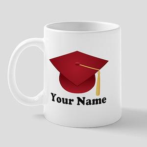 Personalized Red Graduation Cap Mug