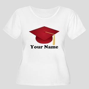 Personalized Red Graduation Cap Women's Plus Size